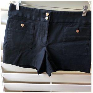 Loft sailor inspired black shorts Size 6